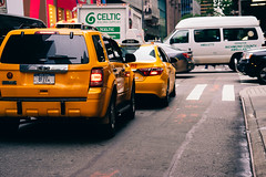 Don't play in traffic, unless you are a photographer :) (RomanK Photography) Tags: city nyc newyorkcity manhattan taxi streetphotography yellowcab sonyalpha streettogs