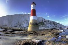 A light above descending (pauldunn52) Tags: lighthouse sussex coast chalk head cliffs beachy