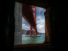 Golden Gate Bridge Window (KnightedAirs) Tags: bridge window digital canon photography golden bay photo gate san francisco powershot area hdr s100