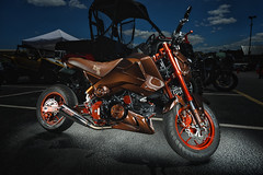 Custom Honda Grom MSX125 by Composimo (2016 Schroader's Honda Bike Show) (*Ken Lane*) Tags: usa bike wheel geotagged cool parkinglot unitedstates asheville awesome northcarolina tire flashphotography motorbike stunning motorcycle vehicle asphalt strobe bikeshow hawg avl wnc nikkorlens bwfilter streetbike westernnorthcarolina exposureblending buncombecounty vehculo vhicule venable neutraldensityfilter automotivephotography strobist strobing wirelesstrigger nd8filter singlestrobe bwndfilter paulcbuff nikon2470 nikond800 paulcbuffinc cybersync multipleexposureblending cybersynctriggertransmitter 3stopndfilter lightenblendmode carshowphotography 22inchbeautydish einstein640 composimo reallyrightstufftripod photoshopcs6 vagabondminilithium einsteinstrobe msx125 photoshoplayermasking hondagrom einstein640strobe ashevilleoutlets einsteinstrobe640ws elinchromelhandheldboomarm bikeshowphotography hondagrommsx125 smalldisplacementbike geo:lat=3552807888 geo:lon=8260528788 sidandelcdwirelesstimelapseintervalometerremotecontrol vehiclestrobing cybersynctransceiver 2016schroadershondabikeshow