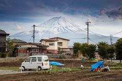 Mount Fuji Countryside (magiclaura) Tags: mountain snow japan countryside mountfuji vulcano
