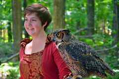 DSC_3599 (hellotristan) Tags: girls birds festival nikon hawk fair medieval owl lamb prey renaissance nikonphotography nikond7000