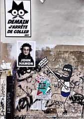 "Demain j""arrte !!!!! (Olivier_Vasseur) Tags: urban streetart paris art french graffiti tag humour dessin rue affiche urbanstyle"