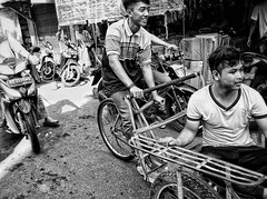 Street scene |  Tanjung Pinang (-Faisal Aljunied-) Tags: blackandwhite monochrome indonesia tricycle transport streetphotography streetlife ricohgr tanjungpinang bwstreetphotography faisalaljunied