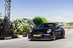 GT3. (Gal cho photography) Tags: world street black color cars love car canon germany photography 50mm gold israel photo nice superb earth wheels 911 bluesky super best special exotic gal photograph porsche 18 expensive rare spec cho supercar 991 gt3 650d goldwheels 991gt3 chobotaro