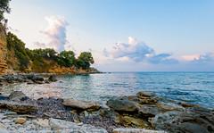 Wild bay in Zakynthos, Greece (krugli) Tags: sunset sea wild summer nature landscape island bay coast rocks view outdoor scenic rocky panoramic cliffs greece shore zante zakynthos d600