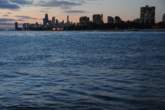 2016 Downtown Chicago From Montrose Point (DrLensCap) Tags: from park lake chicago robert sunrise point dawn harbor illinois downtown michigan il lincoln montrose kra kramer highrises