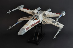 T-65 X wing (1) (Inthert) Tags: star starwars fighter ship lego luke r2d2 xwing wars skywalker moc t65 sfoils