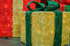 Christmas decorative boxes (Victor Wong (sfe-co2)) Tags: christmas xmas red holiday color macro green yellow closeup festive season idea golden warm symbol box decorative celebration gifts ornament gift present tungsten concept tradition decor package
