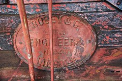 Robey & Co nameplate on thrashing (threshing) machine (outback traveller) Tags: historic seq