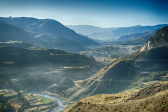 Colca Canyon (Tydence) Tags: peru rio terraces canyon farmland colca lari