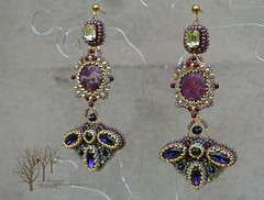 The Sunrise over Quart_10 (~Gilven~) Tags: beads jewelry bead swarovski earrings beading swarovskicrystals beadembroidery gameofthrones variscite japanesebeads czechbeads foggyforest