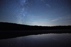 Starry Night (Grout Pond) (Ansel Adams J.R) Tags: starry night pond grout vermont landscape peaceful reflection milkyway galaxy stars hills blue water nature camping new england mountains green fall beautful queit solitude