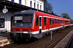 628 219  Eutin  22.04.02 (w. + h. brutzer) Tags: analog train germany deutschland nikon 628 eisenbahn railway zug trains db locomotive lokomotive eutin eisenbahnen triebwagen triebzug triebzge webru