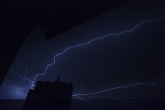Attraction (alexwinger) Tags: blue light storm building night clouds nikon thunder lightstorm