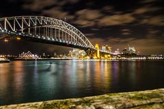 Sydney harbour (Marco.Alagna) Tags: city bridge skyline night lights harbour sydney australia ponte vista acqua arco architettura ferro sullacqua