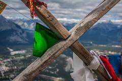 Sulphur Mountain Prayer Flags (alpeace89) Tags: sky mountain canada rockies prayer flags alberta banff sulphur