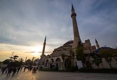 Hagia Sophia and the Blue Mosque at sunset (Beau Finley) Tags: beaufinley istanbul turkey trkiye ayasofya hagiasofia bluemosque minaret ottoman orthodox sunset dramatic hagiasophia hagia sofya sofia sophia