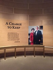"George and Laura Bush at George W. Bush Library in Dallas • <a style=""font-size:0.8em;"" href=""http://www.flickr.com/photos/109120354@N07/27754792432/"" target=""_blank"">View on Flickr</a>"