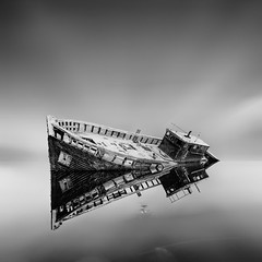 Dignity 2 (Martin Mattocks (mjm383)) Tags: sky blackandwhite seascape abstract abandoned water monochrome reflections landscapes boat cornwall ship fineart devon dignity smoothwater canoneos5dmarkii mjm383 martinmattocksphotography