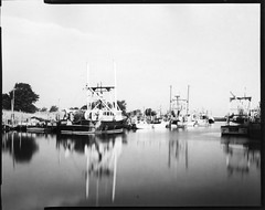 Belford Harbor (thereisnocat) Tags: boats harbor newjersey dock nj intrepid 4x5 monmouthcounty middletown largeformat belford 150mm symmars harmandirectpositive