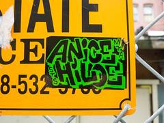 (gordon gekkoh) Tags: sanfrancisco graffiti sticker mta hilo sts anice
