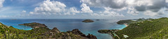 caribbean pano (thebrooklyndodger) Tags: travel blue sea vacation sky panorama green nature water beauty clouds composition landscape skies earth caribbean stbarts stbarth travelphotography stbarthelemy colombier
