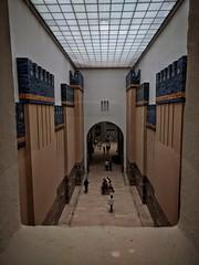 Window to Babylon (Bessam Al-Jarian) Tags: camera blue berlin history museum germany phone iraq babylon babil