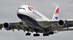 'BA6B' (BA0286) SFO-LHR (A380spotter) Tags: approach landing arrival finals shortfinals threshold belly airbus a380 800 800igw msn0163 gxleh internationalconsolidatedairlinesgroupsa iag britishairways baw ba ba6b ba0286 sfolhr runway27r 27r london heathrow egll lhr