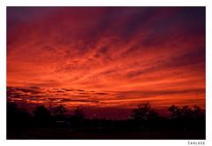 sunrise (Carlos E Corts Parra) Tags: orange clouds sunrise landscape paisaje amanecer nubes