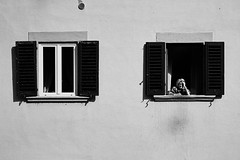 Donna (FilippoMarchi) Tags: old woman window florence donna firenze finestre vecchia