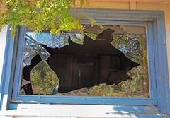 Broken Window (Lee Sutton) Tags: reflection broken window weathered