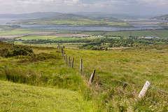 Lough Swilly from Grianan Ailligh (ghostwheel_in_shadow) Tags: ireland lake fence europe lough eire donegal connaught republicofireland architecturalelement loughswilly griananailligh griannailigh architectureandstructures