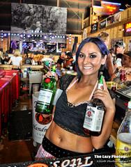 Aug 2 2015 - Friendly Broken Spoke Saloon bartender (lazy_photog) Tags: cute broken photography spoke lazy tips friendly wyoming saloon bartender elliott photog worland 080215sturgisday2