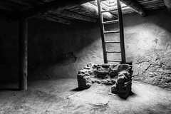 Kiva at Pecos National Historical Park [Explored 2016-07-07] (repete7 (out, be back soon!)) Tags: blackandwhite bw black newmexico canon us unitedstates ladder pecos kiva pecosnationalhistoricalpark kivaladder pecosnationalpark canon1585 canon70d