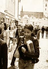why i still shoot film? (Claudio Taras) Tags: street shadow portrait people bw film sepia 35mm monocromo claudio rodinal canona1 biancoenero controluce trier taras streetshot contrasto fomapan argentapaper