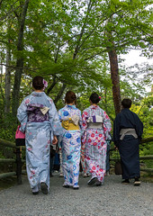 Chinese tourist women wearing geisha kimonos in a zen garden, Kansai region, Kyoto, Japan (Eric Lafforgue) Tags: 3people adult adultsonly asia asian attraction beautiful clothes clothing colorimage colourpicture colourful cultural culture customs day destinations dress elaborate female feminine foreign fromtheback fullframe geisha gion grace hair hairstyle japan japan161556 japanese kimono kyoto makeup outdoors painted rearview threepeople tourism tourist tradition traditionalclothing traditionaldress travel traveldestinations travelling trip unrecognizableperson vertical walking wearing white women kansairegion giappone   japo japonia japonsko japonya jepang jepun  oo