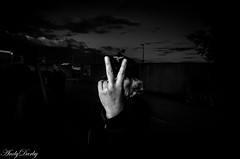 Two Fingers_ (Andy Darby) Tags: two woman girl fingers rude upyours tankfest2016