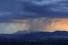 An Electric Evening (ajschroetlin) Tags: sunset storm color rain colorado sheets victor mining thunderstorm lightning cripplecreek miningcountry