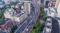 Timelapse of Shanghai street (HIKARU Pan) Tags: china street city car outdoors moving timelapse video asia cityscape shanghai chinese aerialview 24l 1dx timelapsevideo canonef24mmf14liiusm eos1dx