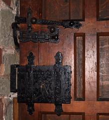 Ribbesford, Worcestershire, St. Leonard's church, door, detail (groenling) Tags: door wood uk greatbritain england iron britain lock wroughtiron gb worcestershire fitting worcs stleonardschurch ribbesford