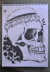 Sketch (Marcos D. Torres) Tags: bw white man black birds pen pencil work painting paper death skull book design sketch model women drawing uncle sketchbook doodle gal rhino angry marker sharpie marcos realism torres realistic posca