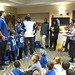 Ready for fun : Andrew Luck & Dwayne Allen with the party winners