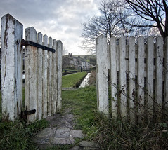 The White Gate (JEFF CARR IMAGES) Tags: canals marsden northwestengland towpaths thehuddersfieldnarrowcanal