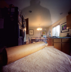 5:06pm (Zeb Andrews) Tags: 6x6 film analog dinner square pinhole athome domesticity zero2000 rollingpin zeroimage zeroimagepinhole bluemooncamera alternatetitlesomethingpizzathiswaycomes