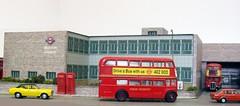 Brixton bus garage diorama (12) (kingsway john) Tags: london transport brixton bus garage model 176 scale card kit diorama kingsway models dms rt route 109 133 50 95 londontransportmodel oo gauge miniature