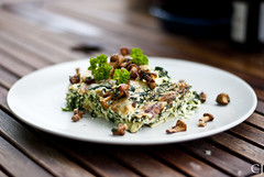 Spinach and chantarelle lasagna (CjacobssonFoto) Tags: life food still lasagna chantarelle