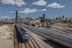 All Aboard Amtrak (player_pleasure) Tags: chicago stack motionblur amtrak stacking railyard stacked notrespassing windycity chicagoist starstax