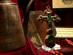 Gold and emerald cross recovered from Atocha (Emily A Frost) Tags: museum treasure florida shipwreck salvage atocha verobeach treasurecoast melfisher spanishgold treasurefleet platefleet