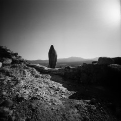 Taking in the View (cheetahtype) Tags: castle 120 film mediumformat pinhole quel zero2000 zeroimage larioja